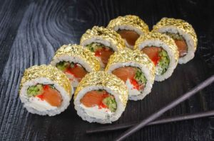 Осьминог доставка, суши, Золотая филадельфия, золотые роллы заказать, доставка суши, золотые суши, Доставка суши, доставка суши,киев