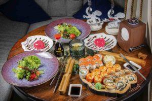 Осьминог суши и деликатесы, доставка осьминог, киев